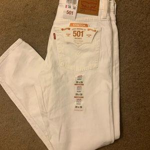 White levis skinny 501